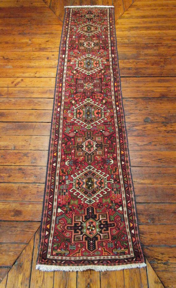 Persian Karadja Rug Iran Oriental Runner Carpet 2 X10 By Bomali 385 00 Antique Persian Carpet Rugs Antique Persian Rug