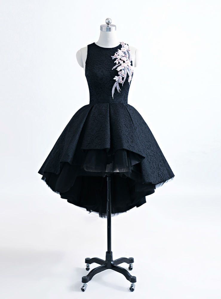 d60db319f36 Vintage Saudi Arabia Puffy Short Lace Prom Dresses 3D Flowers in ...