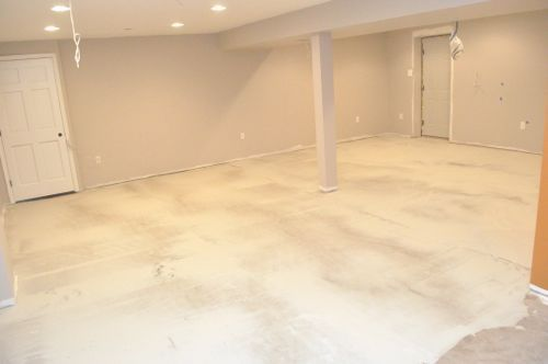 How to Level a Concrete Slab or Basement Floor for Tile | basement ...