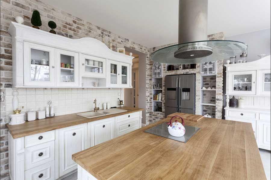 Küchen, Arbeitsplatte küche eiche im weiß küchenschrank. | Küchen ...