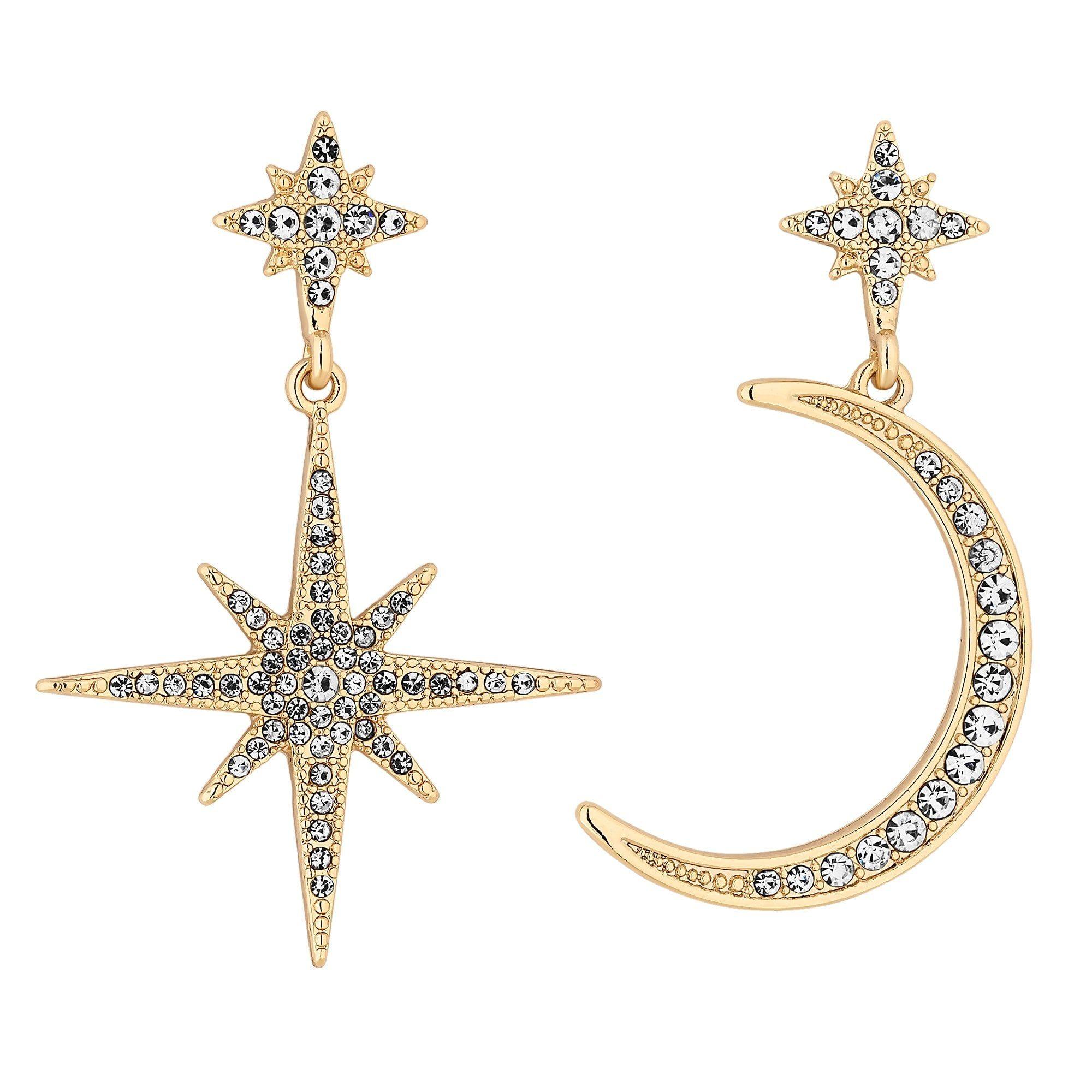 Mood By Jon Richard Gold Celestial Mismatch Earrings Jewellery From Jon Richard Uk Celestial Jewelry Prom Jewelry Earrings Mixed Metal Jewelry