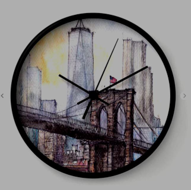 #ny #newyork #usa #illustration #ink #watercolor #art #sketch #urban #architecture #colorful #multicolor #aerialview #buildings #tourism #tourist #brooklyn #bridge #sale #gift #idea #s6 #society6 #printondemand #shopping #giftidea #handdrawn #drawing #painting #homedecor #decoration #artist #architect #fineart #turquoise #blue #sky #positiveart #positive #vacation #oneworldtradecenter #skyscrapers #water #wall #clock #decor #office #home #decoration #brown #grey #blue #yellow