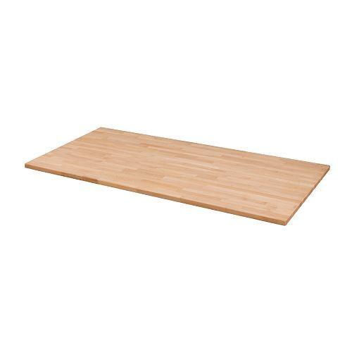 Tischplatte ikea schwarz  GERTON Tischplatte, Buche | Naturmaterialien, Ikea und Beine
