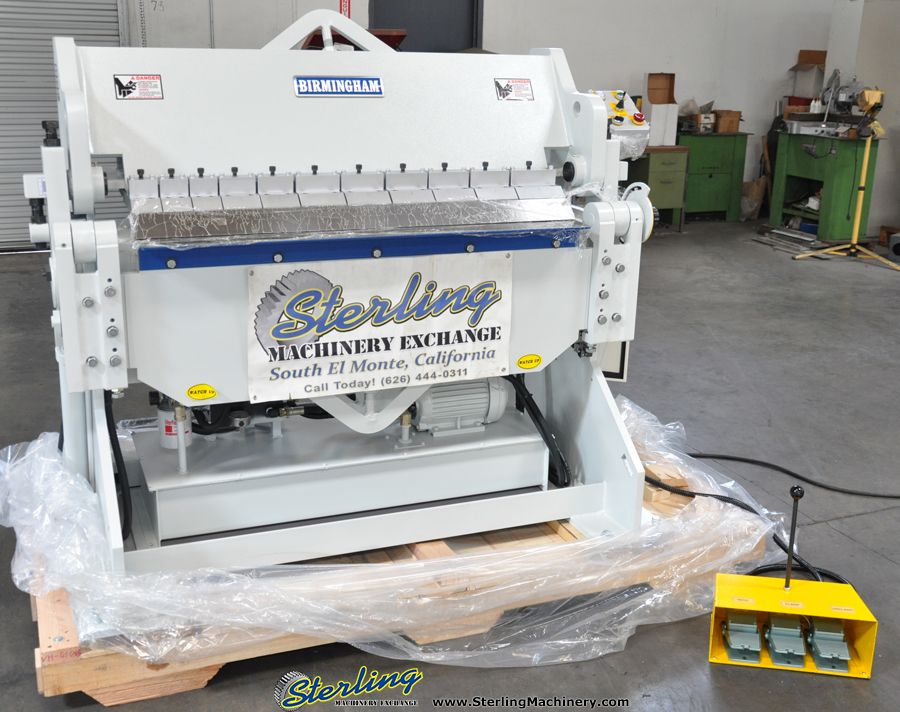 10 Ga X 4 Brand New Birmingham Hydraulic Box And Pan Finger Brake Mdl Vh 410 6 24 Manual Back Gauge S Hydraulic Press Brake Milling Machine Machine Shop