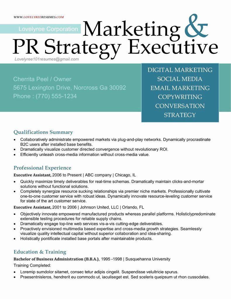 Executive Resume Cover Letter Awesome Classic Executive