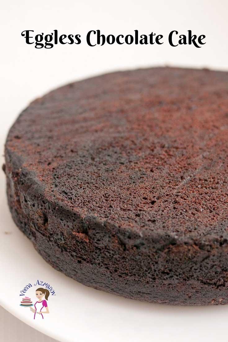 Moist Eggless Chocolate Cake This Moist Eggless Chocolate Fudge Cake Has A Firm T Chocolate Cake Recipe Moist Chocolate Cake Recipe Easy Eggless Chocolate Cake