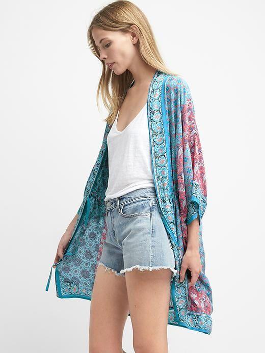 b7e99228866b9 Gap Womens Lightweight Print Kimono Paisley Pink | Products ...
