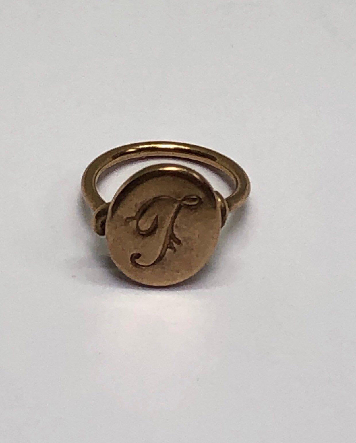 Midi Ring Art Deco Jewelry Genuine Vintage 1940/'s Ring Ring Size 1 12