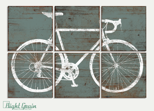 Charming Custom Made Vintage Road Bike Bicycle Sign Wall Art Print Decor RightGrain