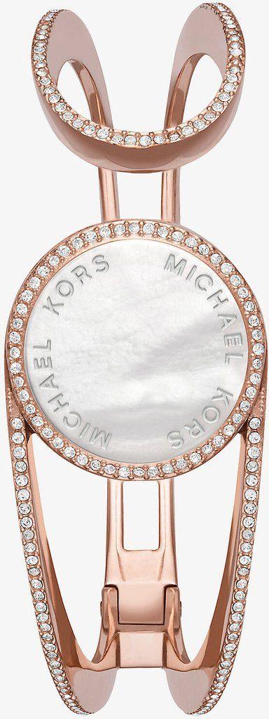 Michaelkors Watch Thompson Activity Tracker Add Content Bracelet Strap Rose Gold Pvd Brand Michael Kors Delivery Ti Bracelet Tracker Mk Purse Michael Kors