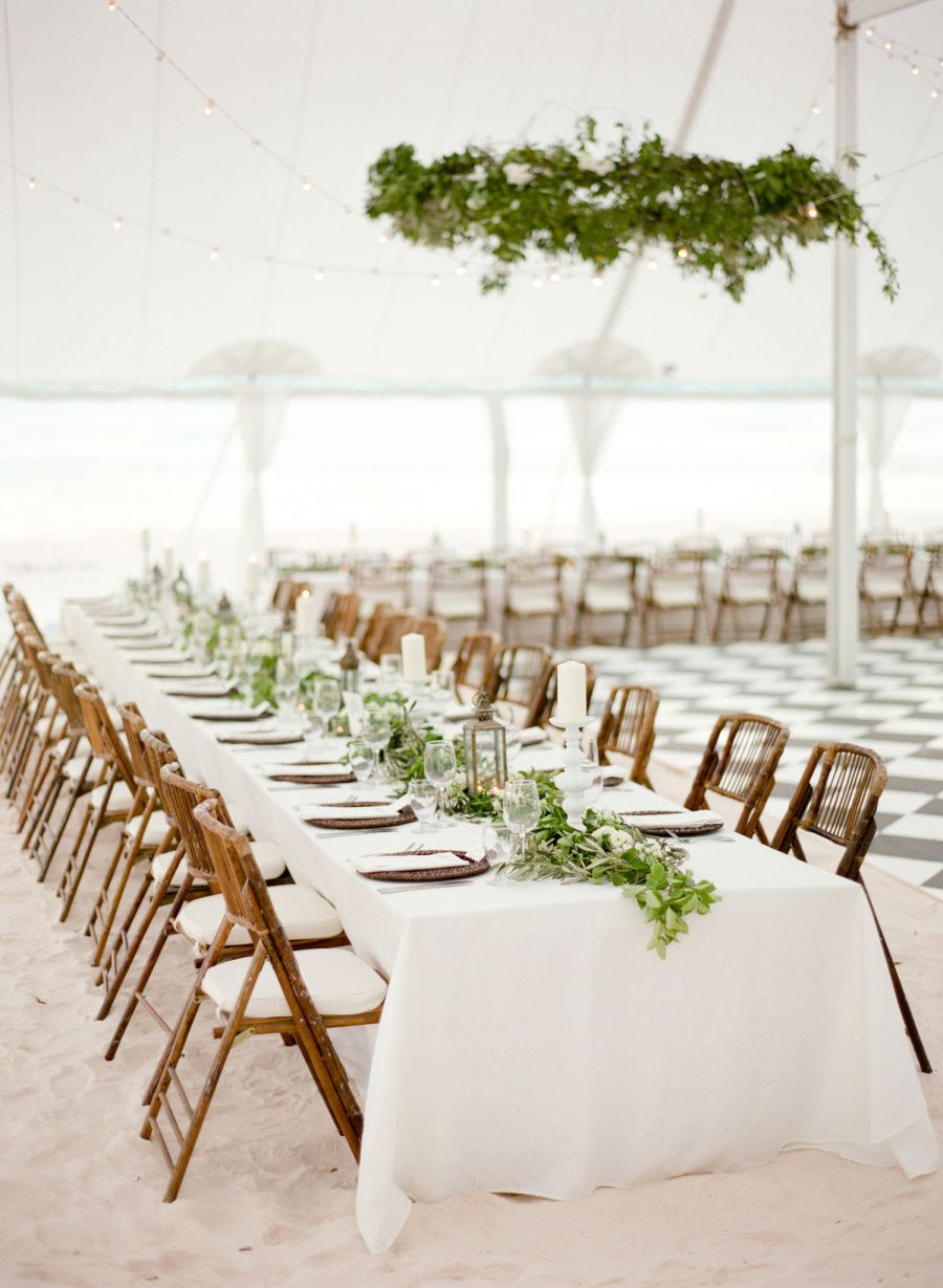 Beach wedding decorations elegant  A WhiteonWhite Celebration That Redefines