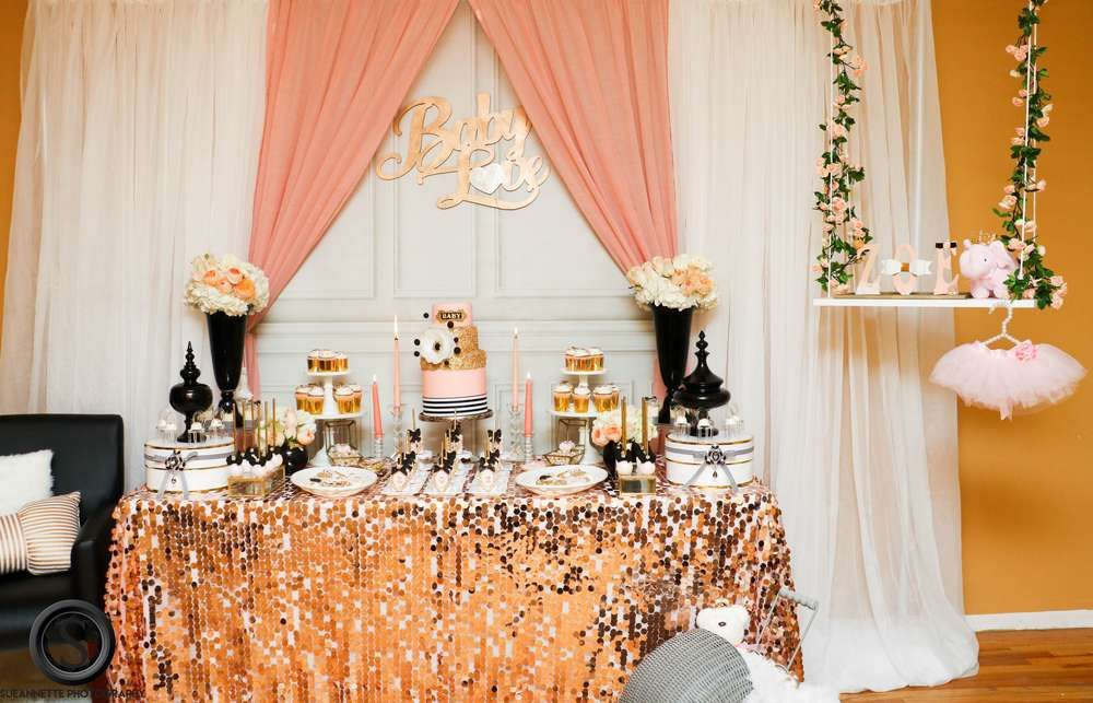 Glam Baby Zoe Christine! Baby Shower Party Ideas   Photo 2 of 37   Catch My Party