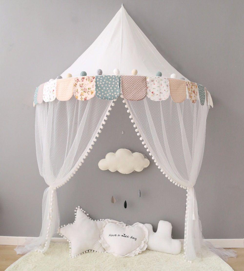 Kinder Tipi Zelt für Kinder Baldachin Vorhänge für Krippen