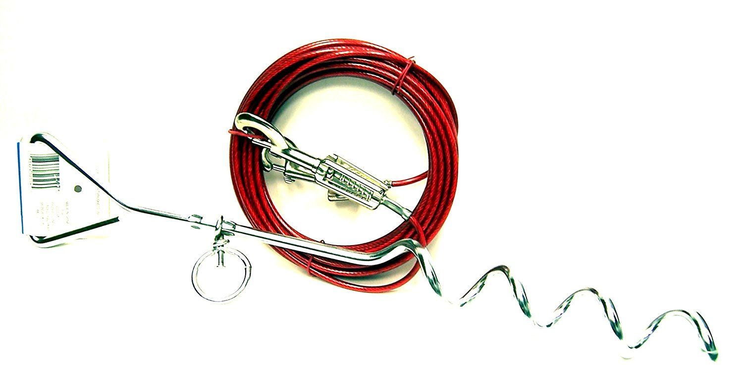 Boss Pet Prestige 20ft Large Tieout Spiral Stake Wow I Love
