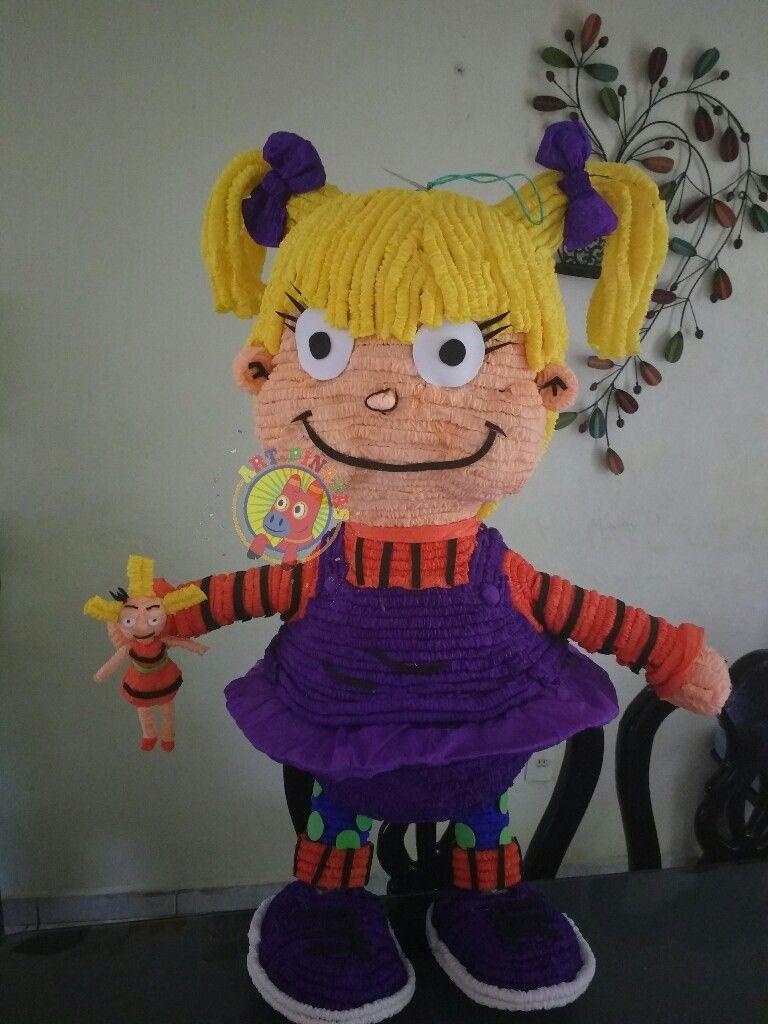 Piñata Angélica Pickles de la caricatura aventuras en pañales. Síguenos en  facebook ART-piñatas. 4285dacdbaa