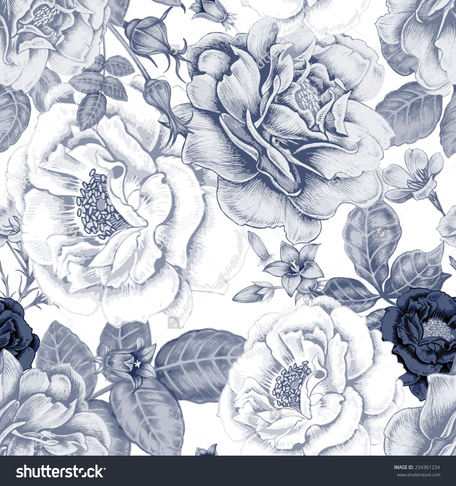 Vector Seamless Background Design For Fabrics Textiles Paper