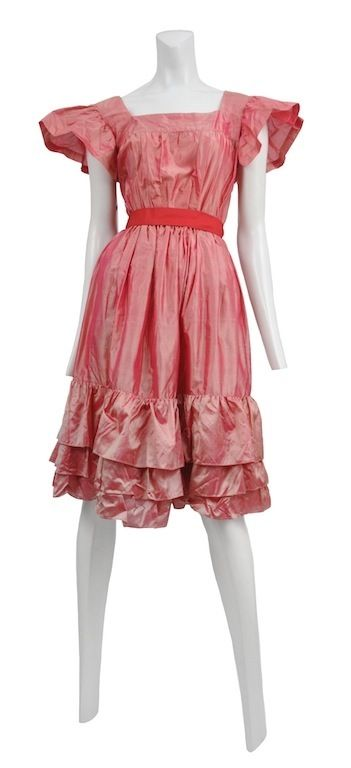 Authentic vintage YSL from Resurrection Vintage PINK TAFFETA PARTY DRESS
