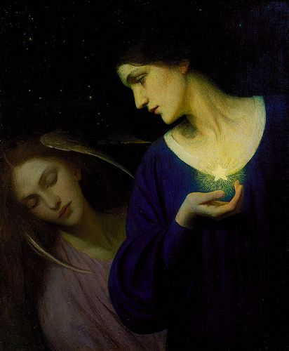 Mary L Macomber - Night and her Daughter Sleep [1902]