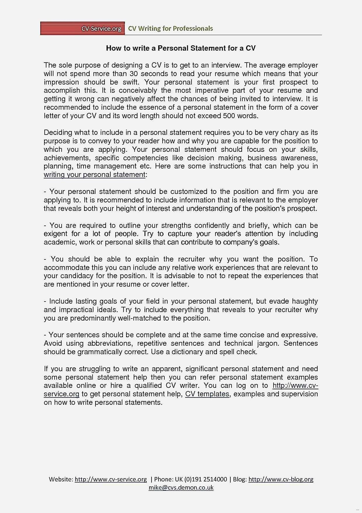 Examples Personal Statements For Resumes Inspirationa