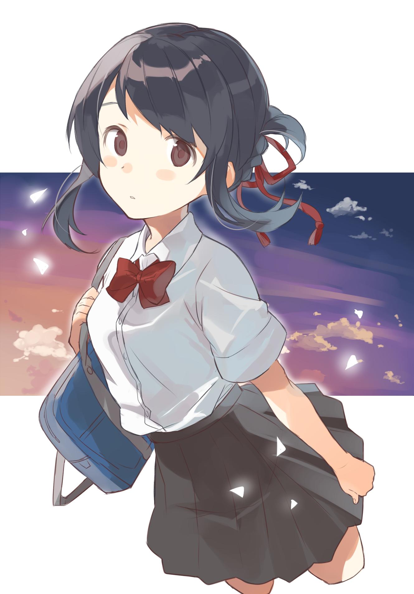 Miyamizu Mitsuha Kimi No Na Wa Your Name Anime Anime
