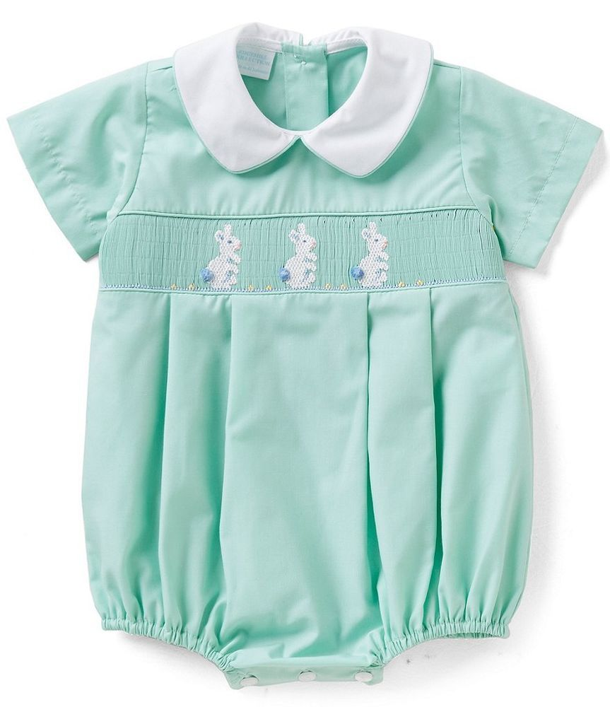 db5bede4d Edgehill Collection Baby Boys Mint 3 6 9 Months Easter Bunny Smocked ...