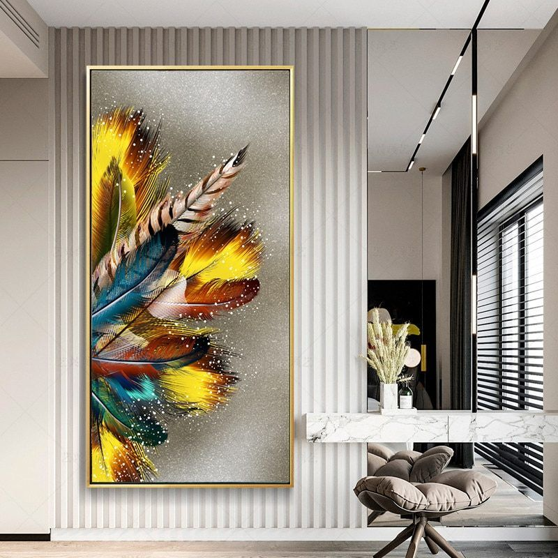 Abstract Vintage Floral Summer Art//Canvas Print Poster Wall Art Home Decor