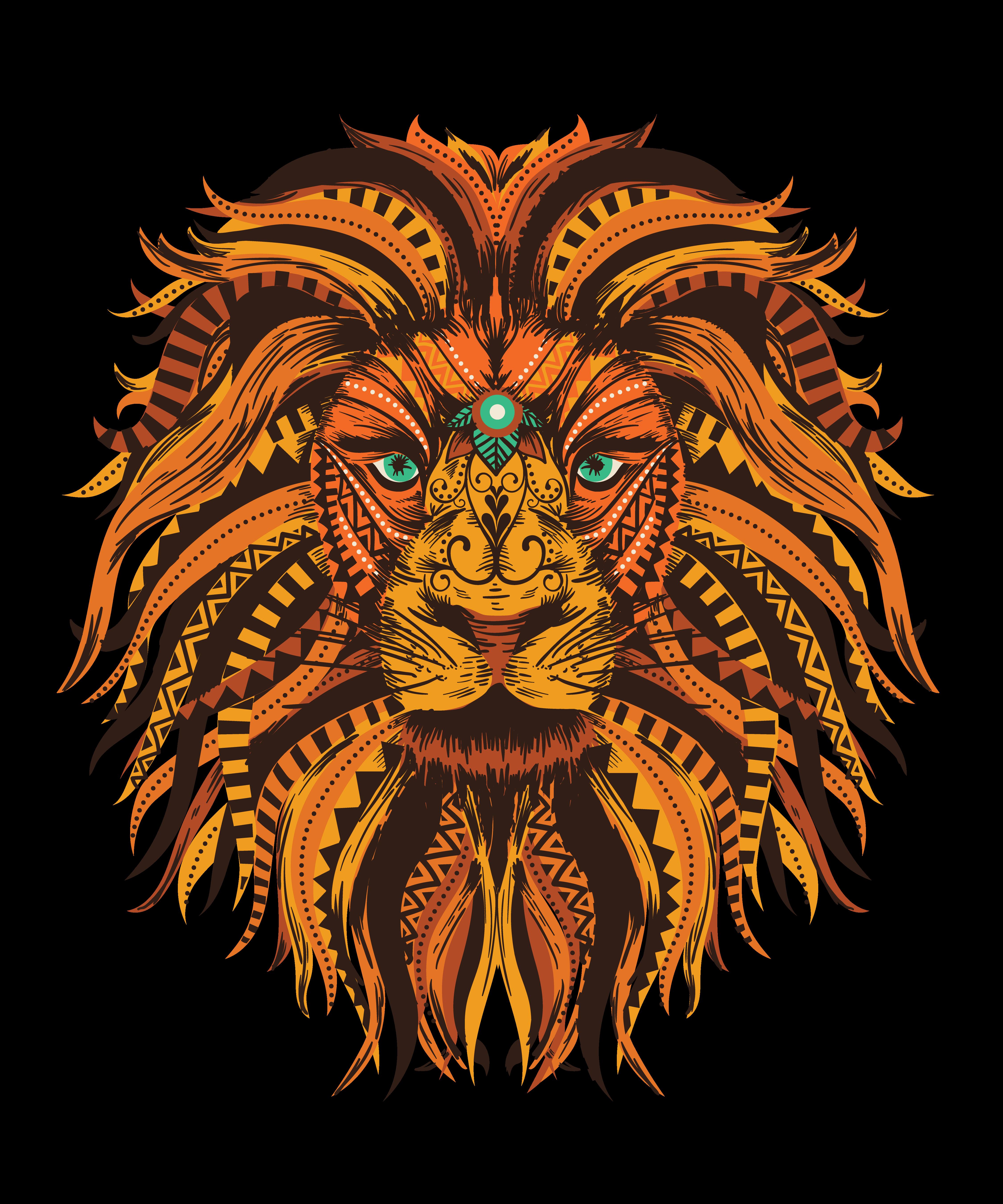 Mandala Lion Lion Mandala Lion Art Mandala