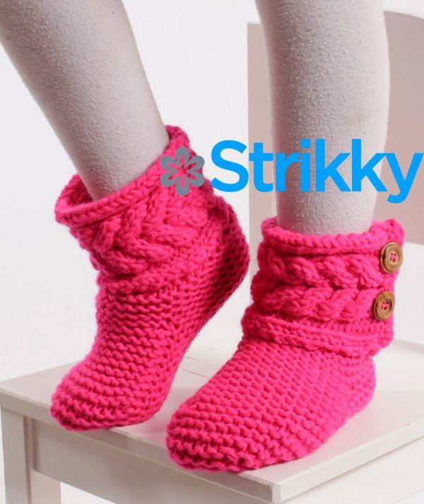детские-вязаные-сапожки-спицами-от-дропс | knitted shoes ...