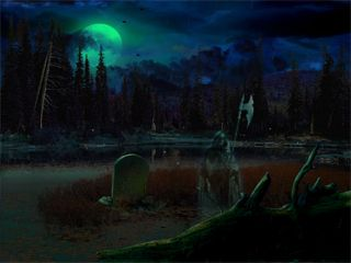 Free Animated Spooky Halloween Screensavers Halloween Pictures Halloween Art Haunted Graveyard