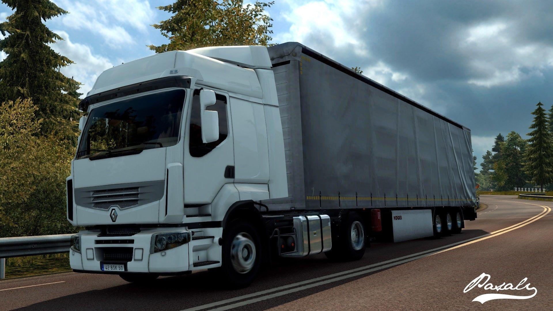 Euro Truck Simulator 2 Truck French Cars Renault 1080p Wallpaper Hdwallpaper Desktop Trucks American Truck Simulator Euro