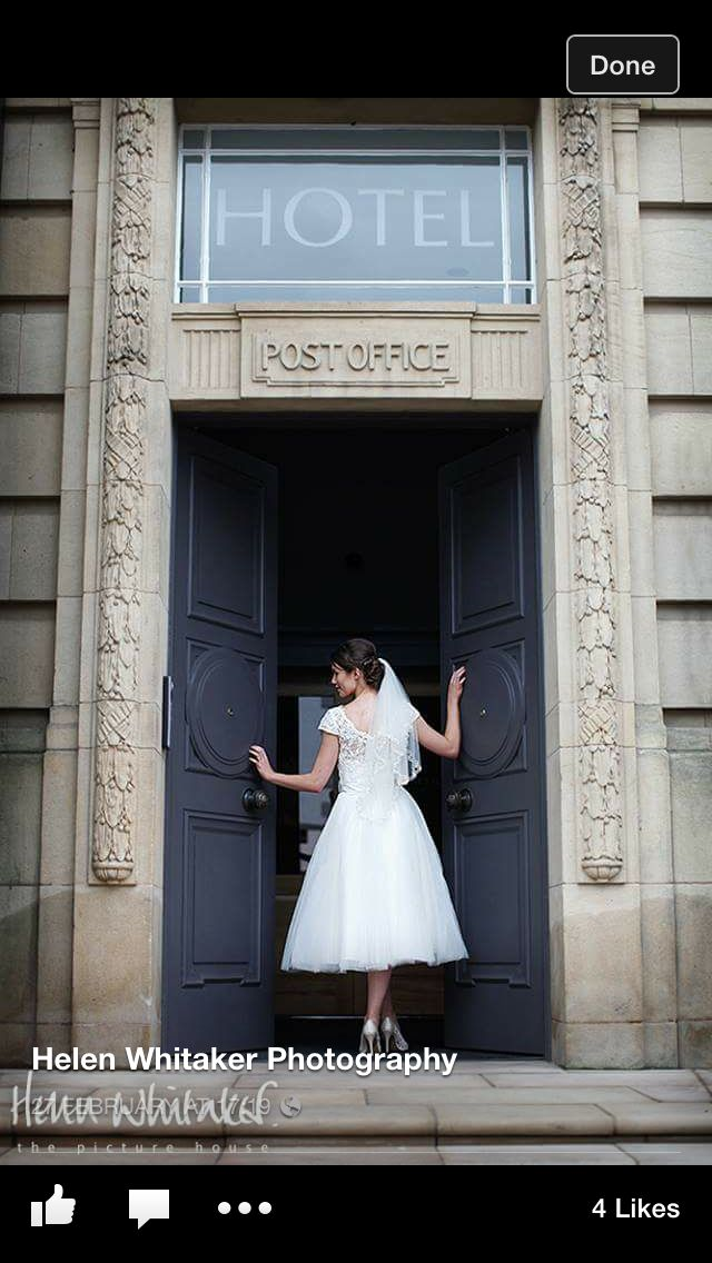 The Halston photo shoot wearing Eve by True Bride