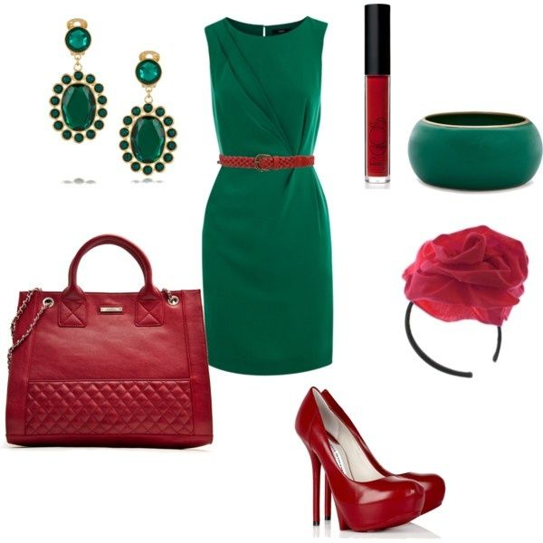 Red Shoes Green Dress Print Visit Polyvore Com Red Shoes Green Dress Red Dress
