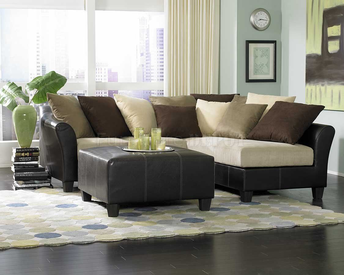 siteDANDSFURNiture.net | New modern sectional sofa u2013 Beige Microfiber Contemporary Sectional . : suede sectional sofas - Sectionals, Sofas & Couches