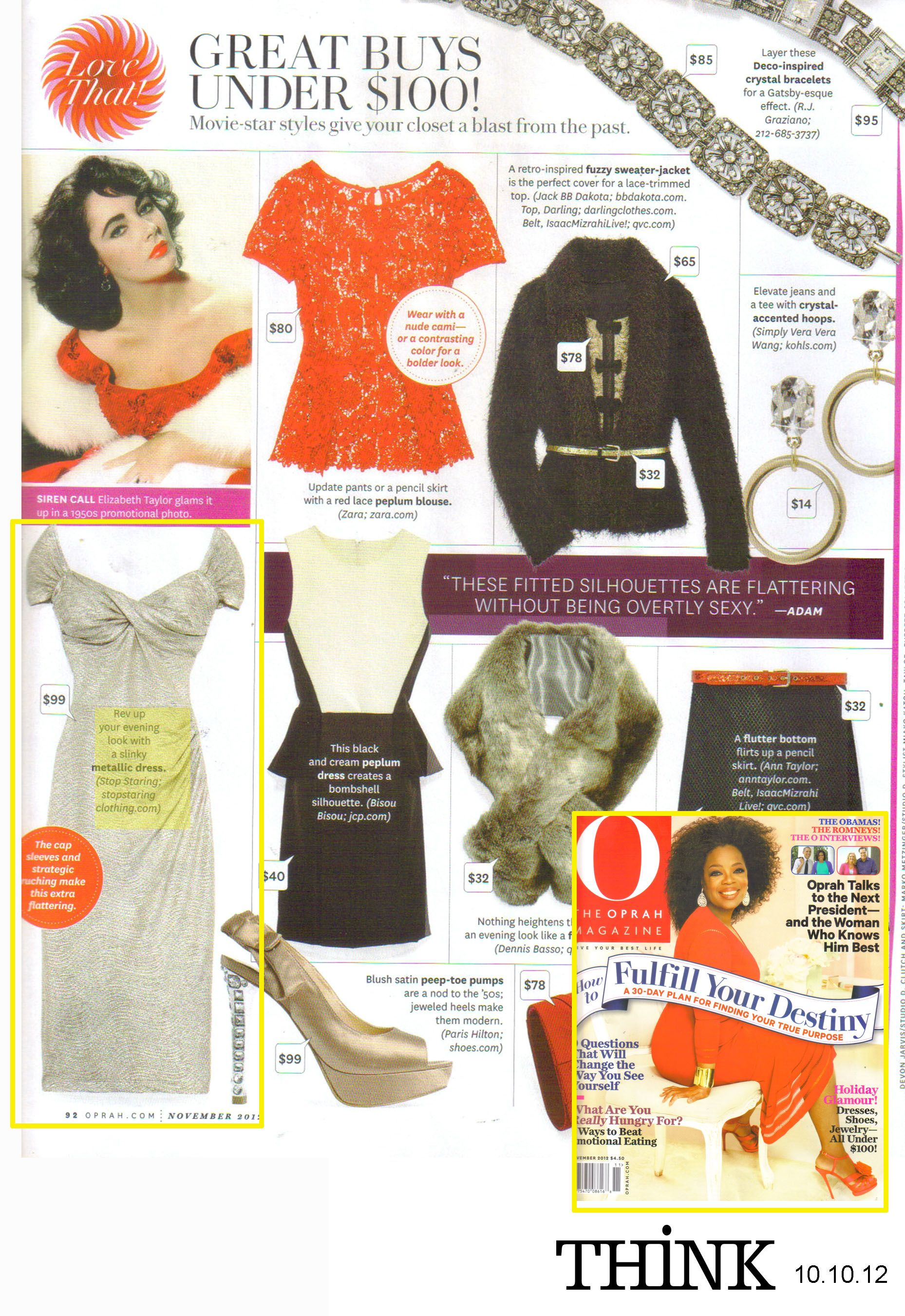 The 'Fortune' Dress by Stop Staring! in O, THE OPRAH MAGAZINE