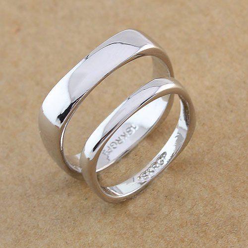 Square Shape Wedding Rings Fashion Rings Mens Wedding Rings Square Wedding Rings