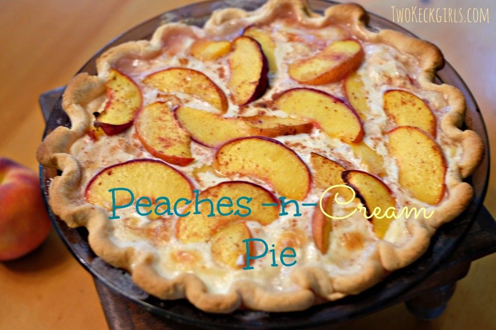 Two Keck Girls   Peaches-n-Cream Pie   http://twokeckgirls.com