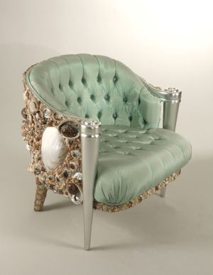 shell encrusted chair by janice.christensen-dean