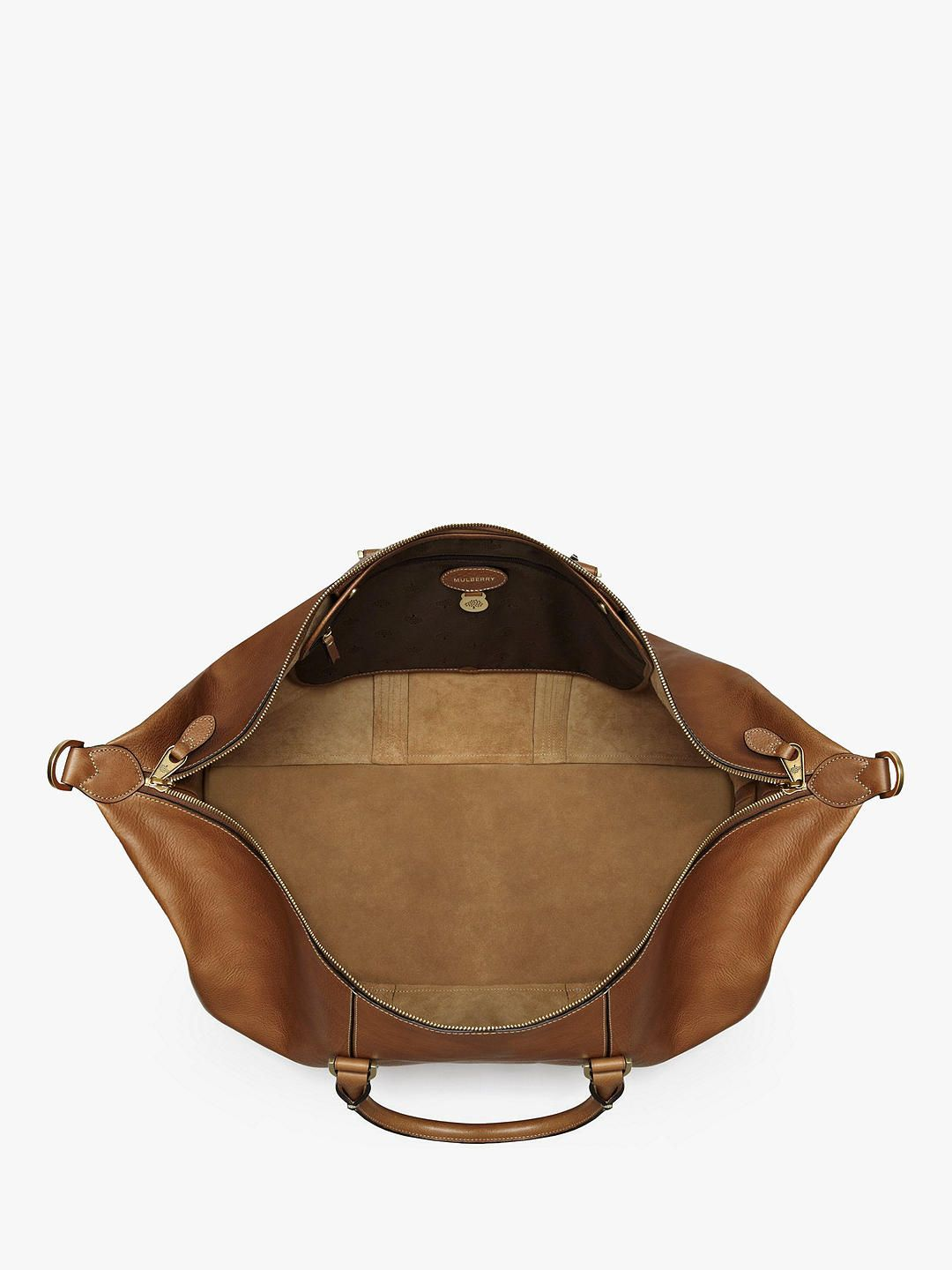 123740873 BuyMulberry Medium Clipper Natural Veg Tanned Leather Holdall, Oak Online  at johnlewis.com