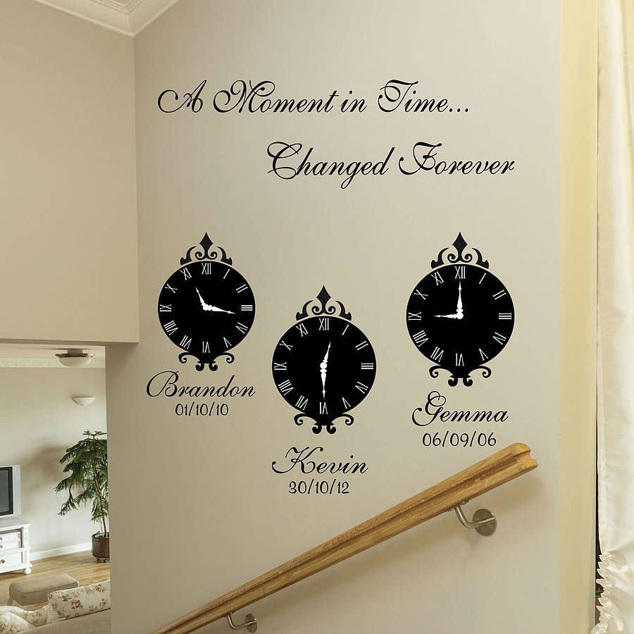 A Moment In Time Wall Art Stickers Wall Stickers Family Wall Art Quotes Family Sticker Wall Art