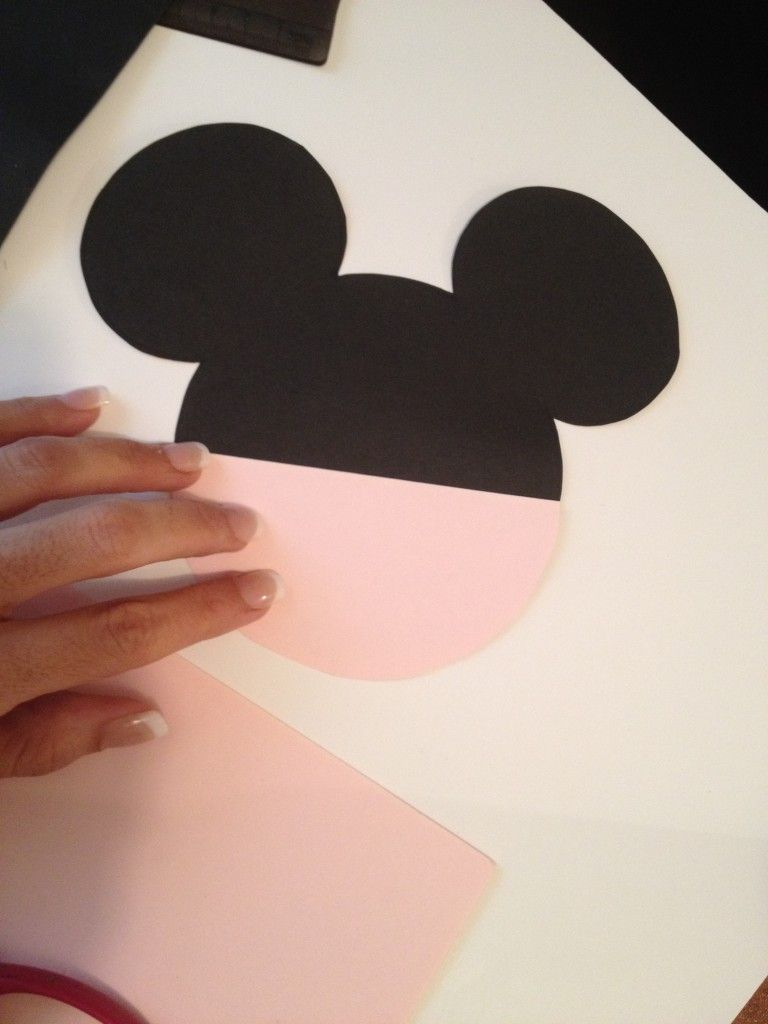 diy minnie mouse invitation with real bow free minnie ears template seshalyns party ideas