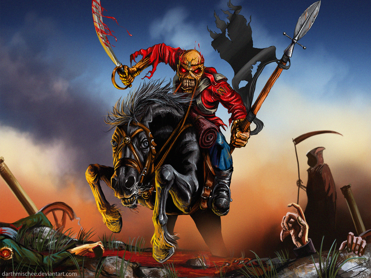 Iron Maiden Eddie With Video By Whiluna On Deviantart Iron Maiden Eddie Iron Maiden Posters Iron Maiden The Trooper