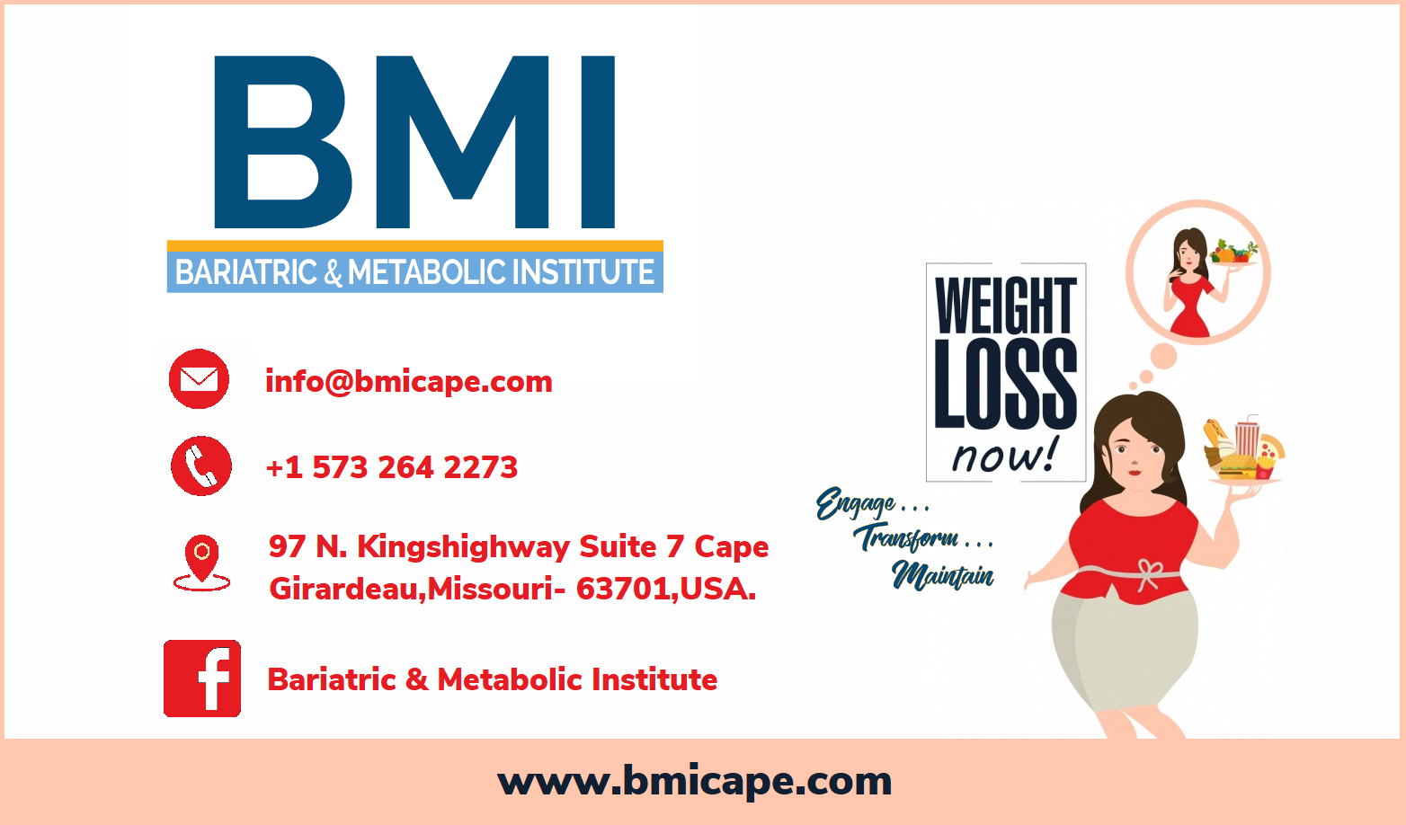 Bariatric & Metabolic Institute (BMICAPE) is YOUR