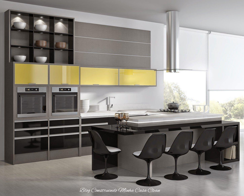 Cozinhas Modernas Com Cinza Pequenas E Grandes Cozinha Moderna