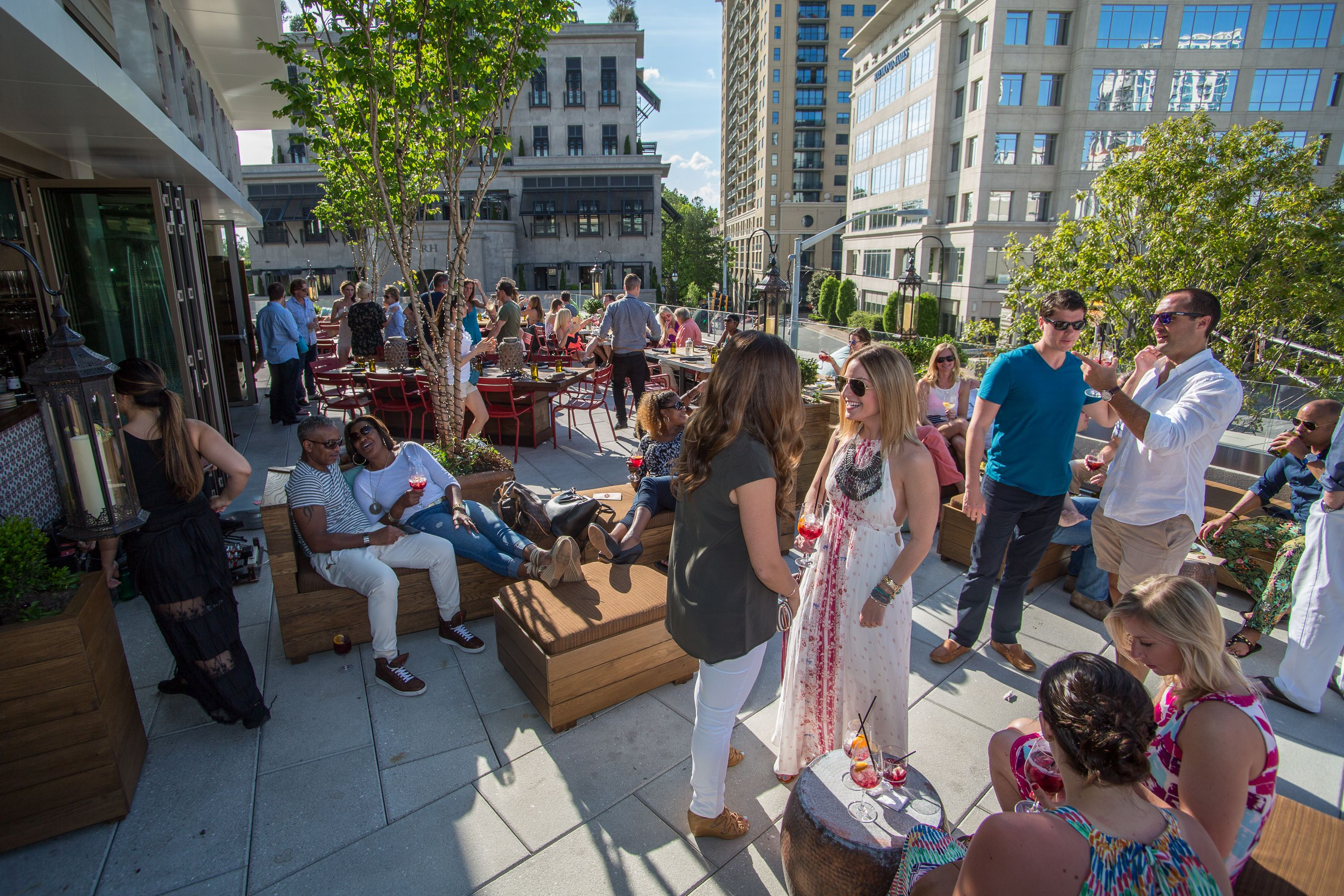 rooftop terrace of Gypsy Kitchen at The Shops at Buckhead ...