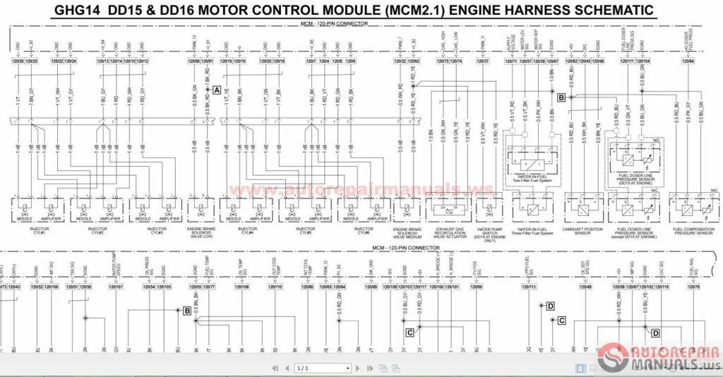 Detroit Wiring Diagrams6 With Diesel Series 60 Ecm Diagram