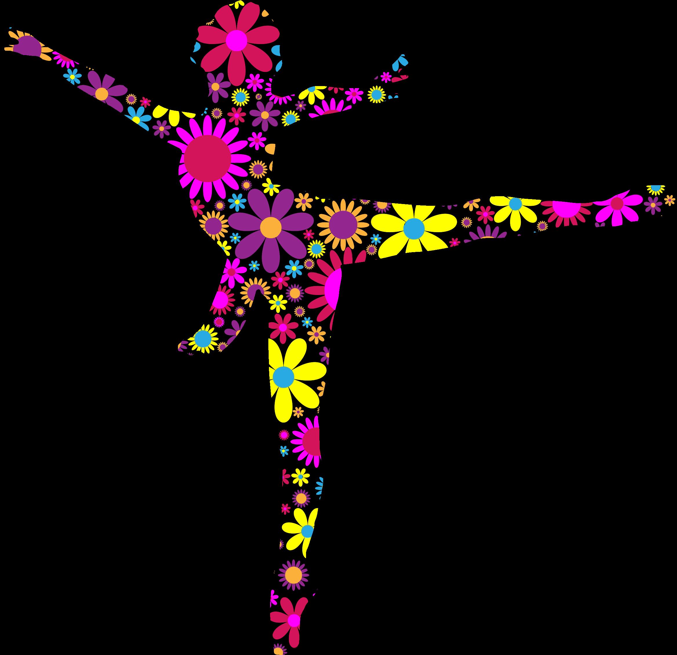 Floral Ballet Dancer Silhouette by @GDJ, Floral Ballet Dancer Silhouette, on @openclipart