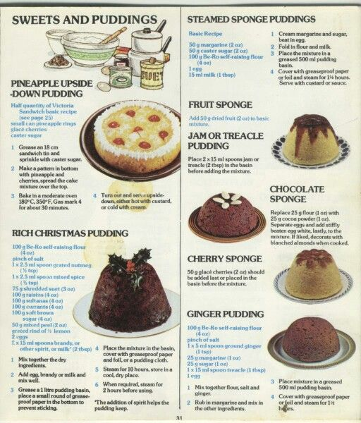 The Be Ro Cook Book 1970s Food Recipes Baking Recipes Uk