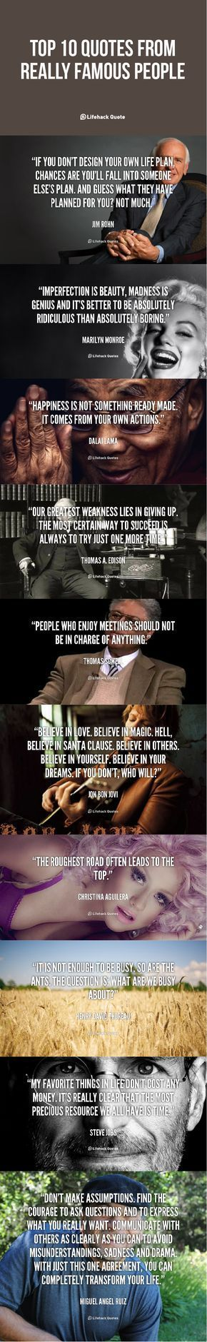 celebrity quotes : This List of Quotes from Famous People Will Inspire Your Life... - The Love Quotes | Looking for Love Quotes ? Top rated Quotes Magazine & repository, we provide you with top quotes from around the world
