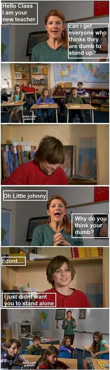 Good one little Johnny!!