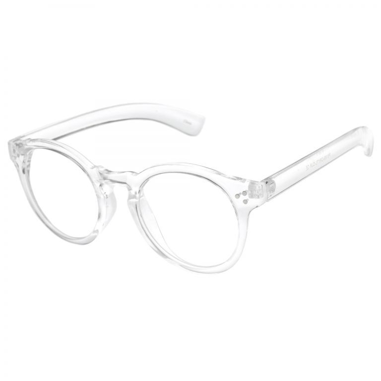 These rounded clear frame glasses may be transparent, but they\'re ...